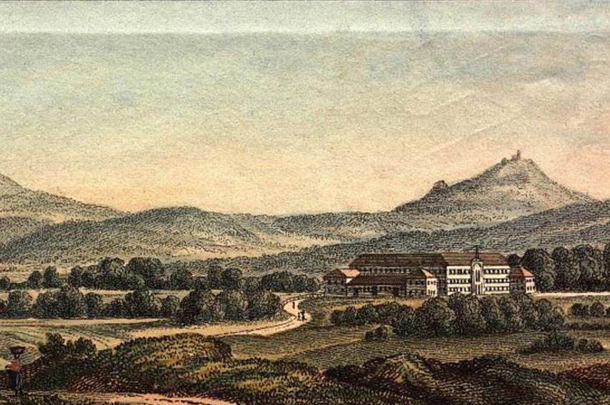 Hohenstaufen und Rechberg, Radierung um 1820