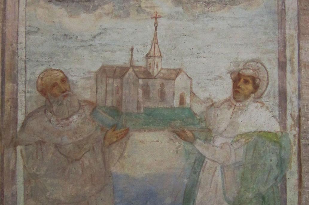 Friedrich I. von Schwaben und Agnes von Waiblingen in der Lorcher Klosterkirche