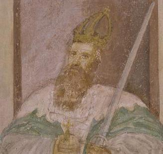 Kaiser Friedrich Barbarossa, Detail in der Klosterkirche Lorch