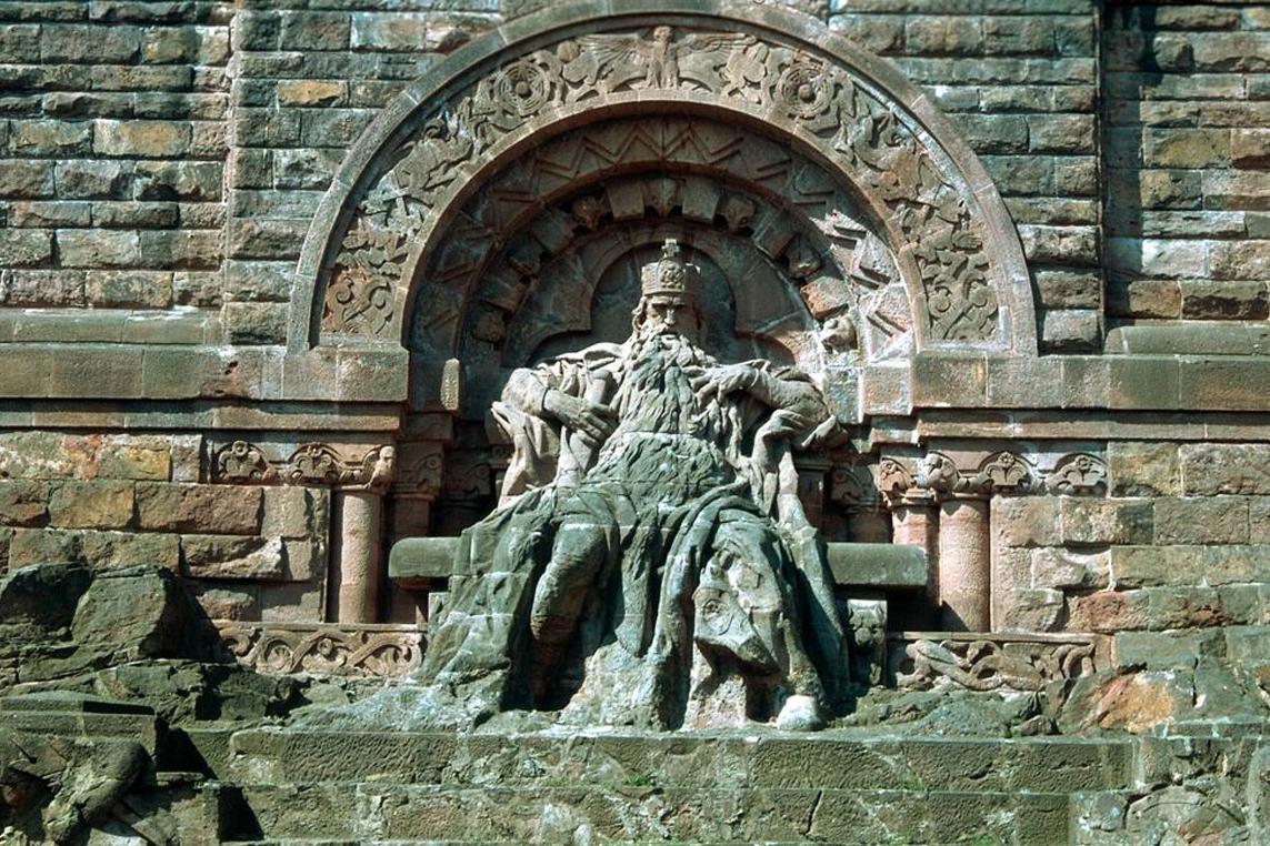 Kaiser Barbarossa im Kyffhäuser-Denkmal bei Steintalleben; Foto: Landesmedienzentrum Baden-Württemberg, unbekannt