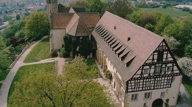 Luftaufnahme von Kloster Lorch; Foto: Staatliche Schlösser und Gärten Baden-Württemberg, Ulrich Rund