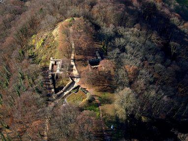 Hohenstaufen, Burgruine von oben