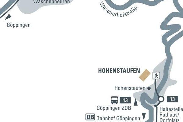 Anfahrtsskizze Anfahrtsskizze zum Hohenstaufen
