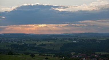Panoramabild des Hohenstaufen; Foto: Staatliche Schlösser und Gärten Baden-Württemberg, Rolf Schwarz