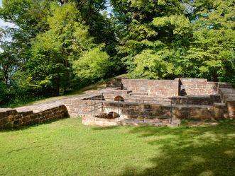 Ruines du château de Hohenstaufen, Vue aérienne